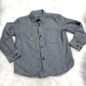 NOCode Charcoal Long Sleeve Button Down Size 5